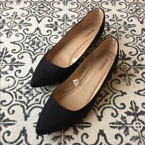 Merona Pointed Toe Flats - Black